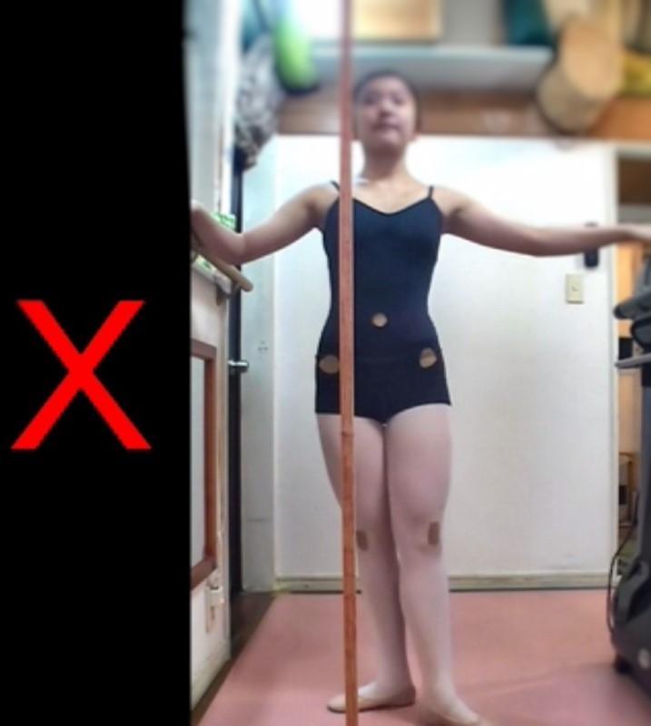 バレエの右軸のコントロール方法